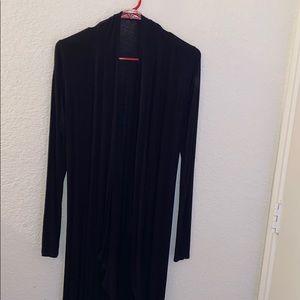 Selling a black cardigan.